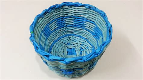 Basket With Paper - how to make newspaper basket