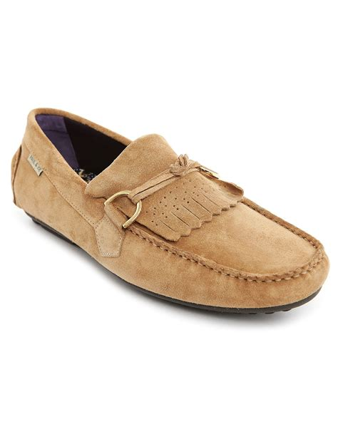 mens beige loafers paul joe carlton beige suede loafers in beige for lyst
