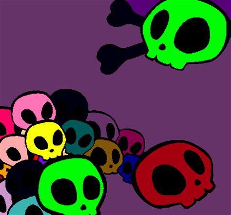 imagenes de calaveras literarias a color calaveras emo png imagui