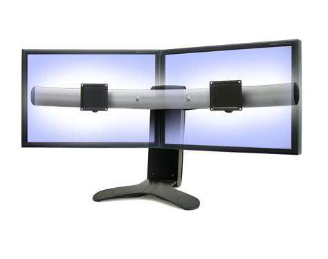 Triple Monitor Stand India Hx Triple Monitor Bow Kit Ergotech Horizontal Lcd Monitor Arm Desk Stand
