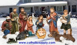 Huge site large scale indoor outdoor nativity sets and yard decor