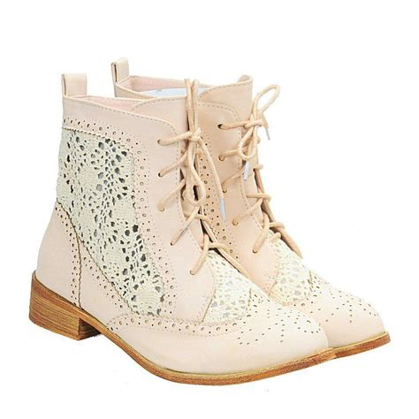 crochet ankle boots vintage crochet sweet toe lace up from