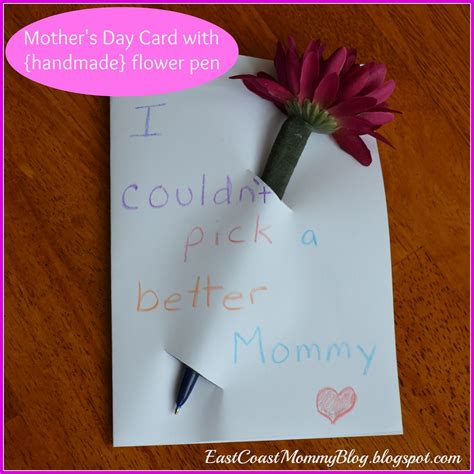 Simple Handmade Mothers Day Cards - east coast simple s day card