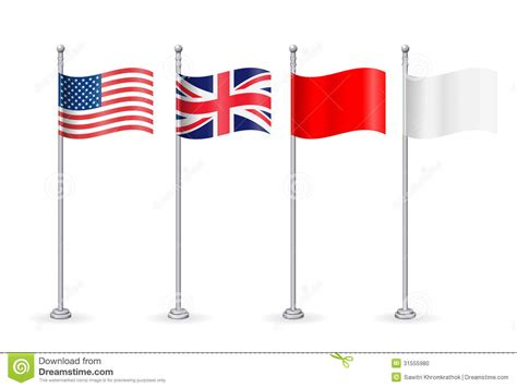vector american with england flag stock vector image
