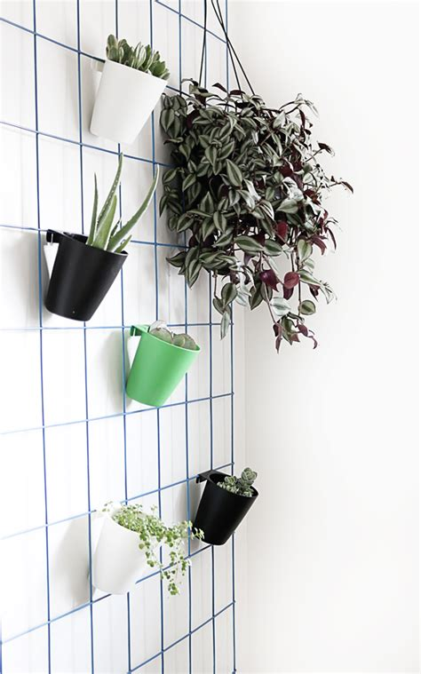 planters that hang on the wall diy hanging plant wall hello lidy