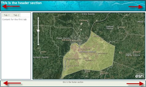 arcgis dojo layout user interface creation made easy with arcgis server