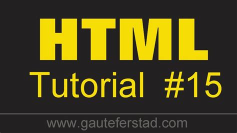 html tutorial video youtube html tutorial 15 make your picture a hyperlink youtube