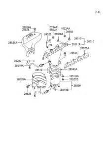 Hyundai Santa Fe Exhaust System Diagram Exhaust Manifold For 2004 Hyundai Santa Fe Hyundai Parts
