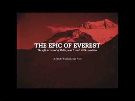 movie poster for the epic of everest flicks film of the day 5 april the epic of everest 1924