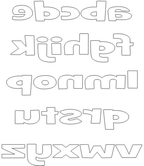 Small Block Letters Printable