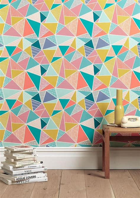 painting ideas modern wallpaper and colorful home fabrics give a new contemporary looks to walls with geometric wall