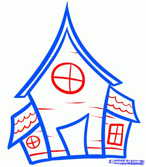 how to draw a house for kids step by step drawing mansion drawing clipart panda free clipart images