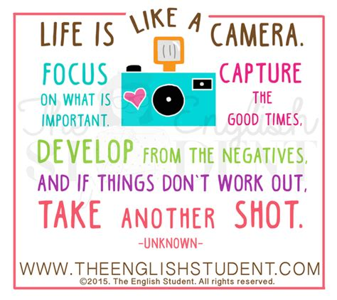 your life student live your life like a camera see more www theenglishstudent com all things for english