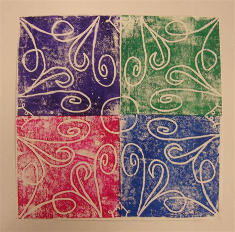 Craft Paper Printing - paper scissors glue radial symmetry prints