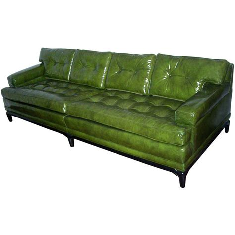 Green Sofas For Sale by Monteverdi Green Leather Sofa For Sale At 1stdibs