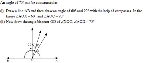Drawing 75 Degree Angle Compass by How To Draw 75 Degree 3267551 Meritnation