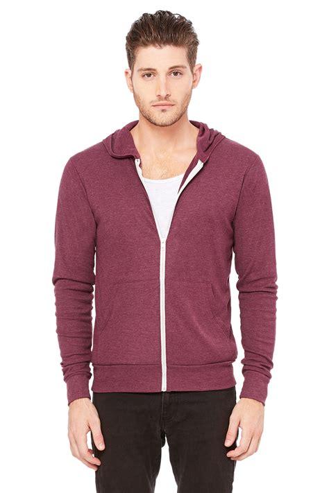 30726 Forever Maroon Flecee zip up lightweight hoodie fashion ql