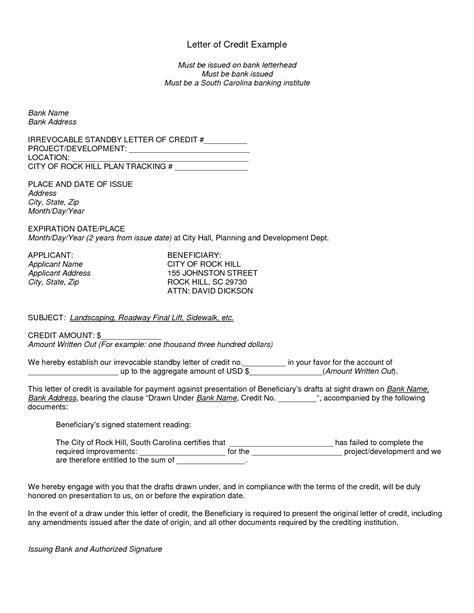 Letter of Credit Samples & International Transactions