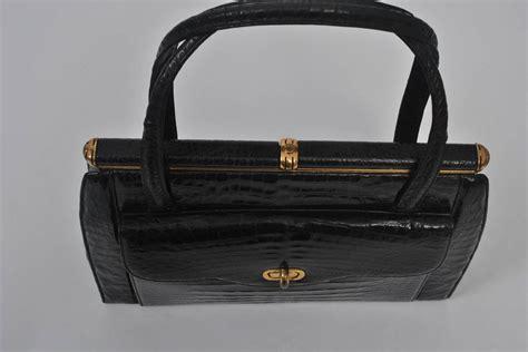 elizabeth handbag elizabeth arden 1960s black alligator handbag at 1stdibs