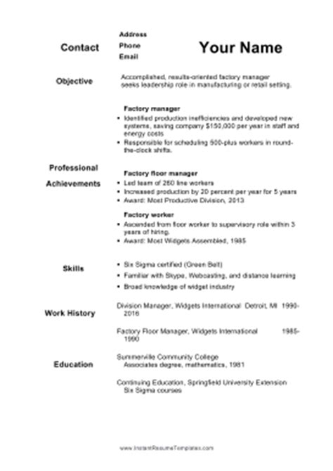 Resume Template For 50 Year by 50 Plus Resume A4 Template