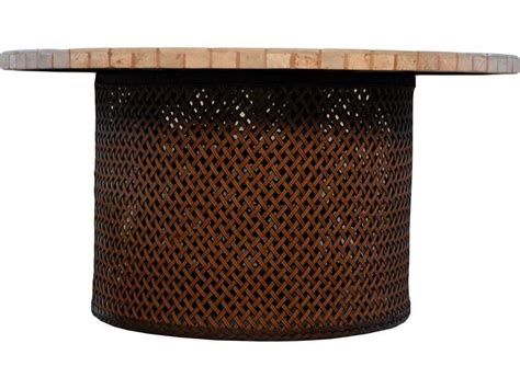 wicker pit table lloyd flanders wicker 48 pit table 71099