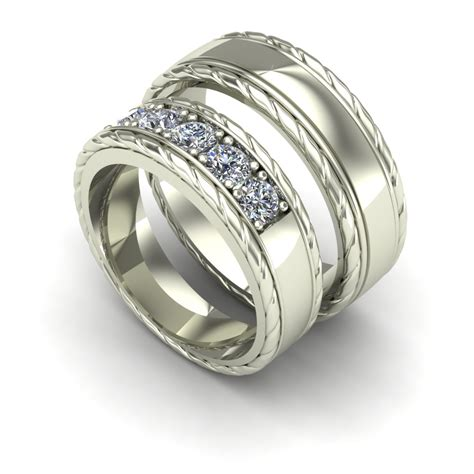 Wedding Bands Borders by Charles Babb Design Design Feature Gents Mens Jewelry