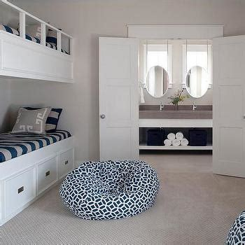 gray kids headboard with blue stripe bedding white and gray striped bunk bed bedding design ideas