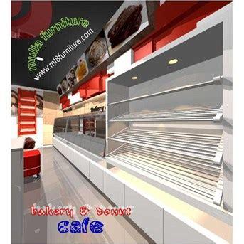 Rak Roti Stainless jual cafe etalase makanan roti kue food display