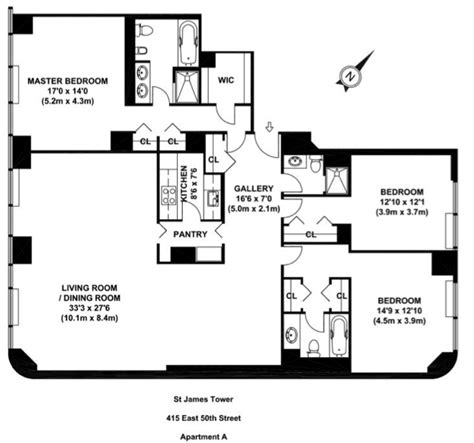 nyc floor plans st james tower 415 east 54th street midtown east