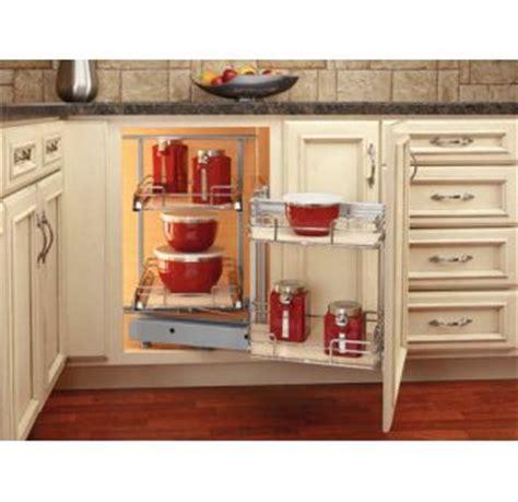 rev a shelf 18 in corner cabinet pull out chrome 3 tier rev a shelf 599 18 lmp maple two tier left door mount