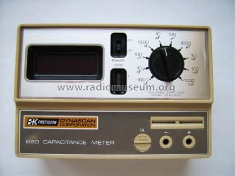 capacitance meter bk precision capacitance meter 820 equipment b k precision dynascan corp