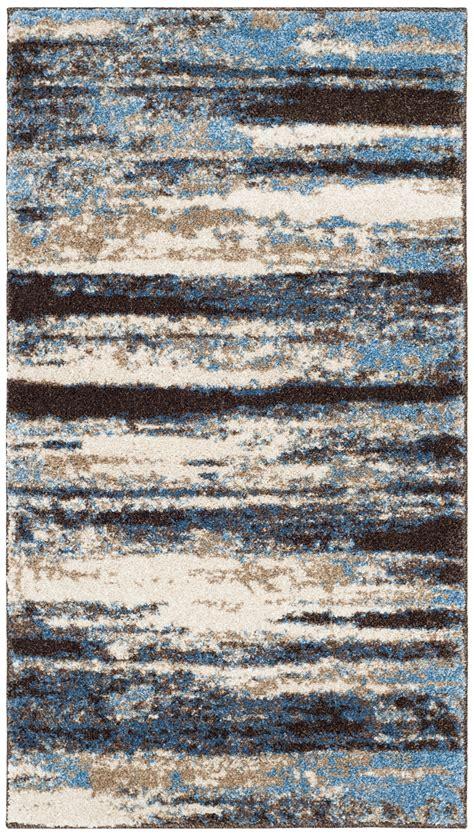 Safavieh Retro - safavieh power loomed retro blue area rugs