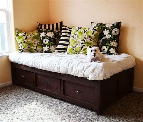 plans  build  easy daybed  storage trundle
