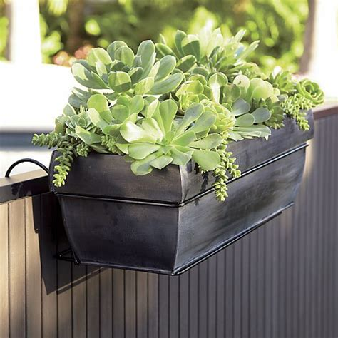 rail hanging planters 1000 images about rail planter on gardens