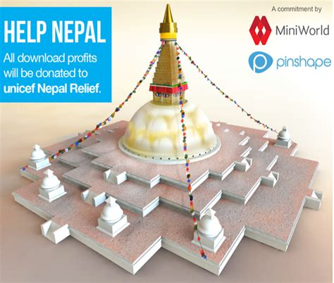 Donation Letter For Nepal Earthquake Nepal Earthquake Pinshape Miniworld Offer 3d Printable