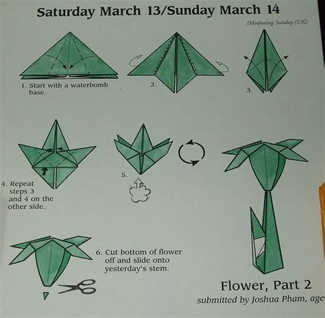 Paper Folding Flowers Step Step - step by step origami flower origami