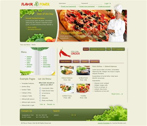 premium joomla restaurant templates themes and mods