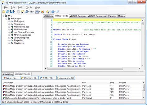 sle vb net programs vb migration partner overview