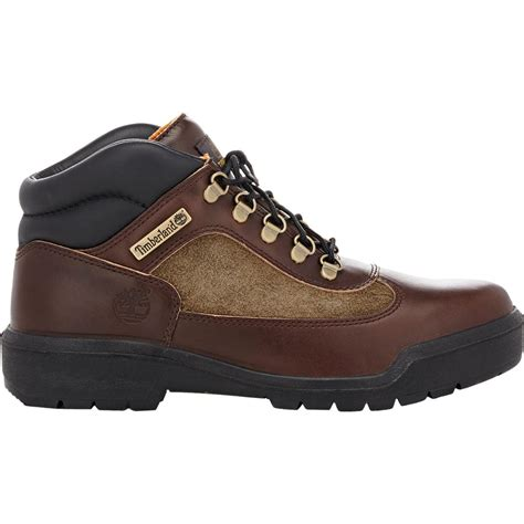Timberland Boot Ring Brown Ujung Besi timberland s field boots in brown for lyst