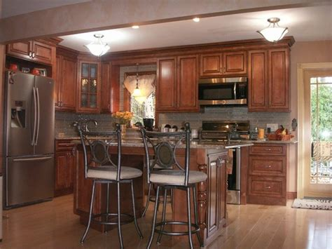 Designs For Kitchen Cupboards by Brown Kitchen Cabinets Sienna Door Style Kitchen