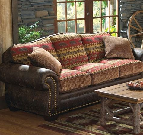 cabin couch best 25 log cabin furniture ideas on pinterest cabin