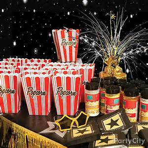 theme decorating ideas theater popcorn bar idea carpet