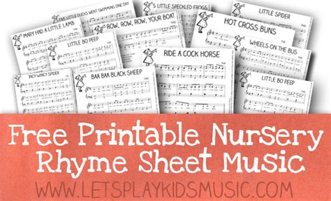 printable songs for toddlers free resources free sheet music and theory printables