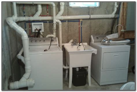 Basement Utility Sink With Sink And Faucets Home
