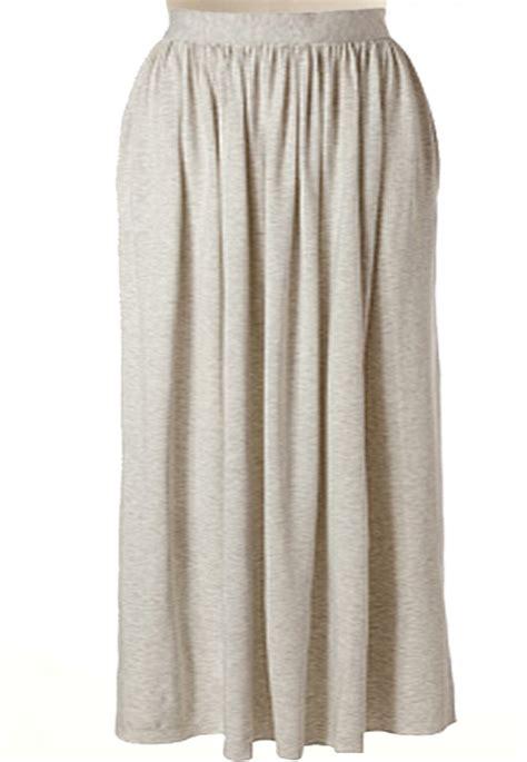 knit maxi skirt custom handmade fully lined wide