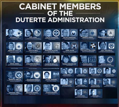 List Of Cabinet Secretaries Press Entertainment Portal The Duterte Cabinet All The