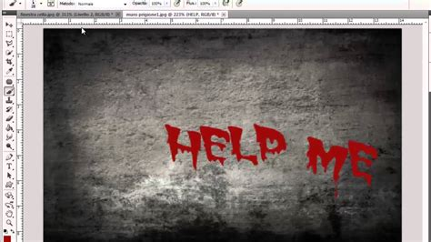 effetto bagnato photoshop scritta horror effetto sangue