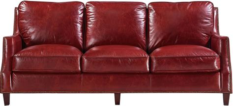 oakridge sofas reviews georgetowne oakridge red leather sofa 1669 6103 035510