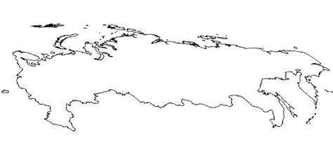coloring page map of russia blank outline map of russia schools at look4