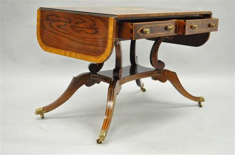maitland smith sofa banded and inlaid regency style sofa table attributed to